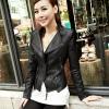 เสื้อแจ็คเก็ต เสื้อหนังแฟชั่น พร้อมส่ง สีดำ หนังด้าน คอจีน ดีเทลด้วยปกโฉบเฉี่ยว แต่งซิบช่วงเอว สุดเท่ห์