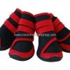 รองเท้าสุนัขโต สีแดง-ดำ ลายรัดคอเท้า (4 ข้าง)