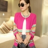 fashion เสื้อคลุม ไหมพรม สีชมพู บานเย็น ใส่ทำงาน เที่ยว น่ารักๆ