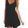 LALANG Women Bodycon Long-sleeved Mini Ladies Dresses Club Sexy Black