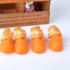 รองเท้าสุนัข รองเท้าแมว บูทยางสีส้ม (4 ข้าง)