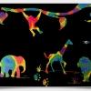 Scratch Cards-Animal Kingdom ชุดศิลปะขูดพร้อม stencil