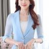 เสื้อสูทแฟชั่น เสื้อสูทสำหรับผู้หญิง พร้อมส่ง สีฟ้า ผ้าคอตตอน 100 % เนื้อดี คุณภาพงานพรีเมี่ยม งานตัดเย็บเนี๊ยบ