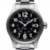 Hamilton Men's H70615133 Khaki Field Officer Black Dial Watch