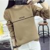 M fashion เสื้อยืดแฟชั่น แขนยาว สีน้ำตาล รุ่น 028-6270 (free size)