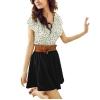 ZANZEA Women's Short Sleeve Top Polka Waist Mini Chiffon PartyAsia Dresses Online+ Belt
