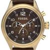 FOSSIL Men's Quartz Watch Vintage Bronze DE5002