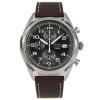 Seiko นาฬิกาข้อมือชาย Chronograph Quartz SSB275P1 สายหนังสีน้ำตาล