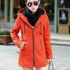 เสื้อกันหนาว พร้อมส่ง สีส้มสดใส ซิปหน้า มีฮูท ด้านในฮูทสีดำตัดส้ม ด้านหลังแต่งซิปหลอก เท่ห์ๆ อินเทรนสุดๆ สำหรับหนาวนี้