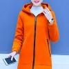 เสื้อกันหนาวสีส้ม ผ้าฟลีซ พร้อมส่ง มีฮูท อินเทรนสุดๆ สำหรับหนาวนี้ ใส่สบาย แบบเรียบเก๋ ซิบรูดใช้งานได้สะดวก