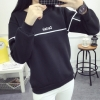 To Baby เสื้อกันหนาว เสื้อแขนยาวแฟชั่น เสื้อสตรี บุกันหนาวเส้นแถบ(สีดำ) รุ่น028-6270