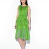 dress ชุดเดรสทํางานแฟชั่น สีเขียวตองอ่อน ผ้าชีฟอง สามารถใส่ออกงานได้ น่ารัก