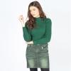 เสื้อไหมพรมคอเต่าแขนยาว No.T-076 (เขียว)