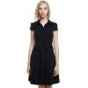 Cyber ACEVOG Women Cap Sleeve Belt Vintage Style Classical CasualParty Swing Womens Dresses Online ( Black )