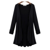 Moonar Cardigan Knit Sweater Coat Long Plus Size Black