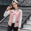 Dolly เสื้อกันหนาวแขนยาว เสื้อคลุมแฟชั่น (สีชมพู/ขาว) รุ่นAW385