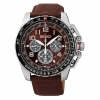 Seiko SSC279 Men's Prospex Solar Leather Band Burgandy Dial Chronograph Watch