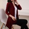 fashion เสื้อคลุม แฟชั่น ไหมพรม สีแดง เลือดหมู น่ารัก ใส่ทำงาน Asia Street Fashion