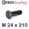 สกรูมิลดำ M24 x 310 *เกลียวครึ่ง*