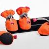 รองเท้าสุนัข รองเท้าแมว สีส้ม(4 ข้าง)