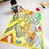 เสื่อรองคลาน 120*90ซม. ลายแผนที่ไซท์ก่อสร้าง พร้อมรถ และสัญญาณจราจร Play mat