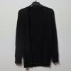 เสื้อคลุมคาร์ดิแกน แขนยาว ตัวยาวปกใหญ่ ไม่มีกระดุม สีดำ