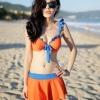 ชุดว่ายน้ำทูพีช เซ็ตชุดชั้นใน สีส้มสดใส กระโปรงบาน น่ารัก ร้อนๆนี้ ไม่ควรพลาดนะคะ