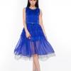 dress ชุดเดรสทํางานแฟชั่น สีน้ำเงิน ผ้าชีฟอง สามารถใส่ออกงานได้ น่ารัก