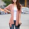 เสื้อคลุมแฟชั่น พร้อมส่ง สีชมพู แต่งลายฉลุ แขนยาว ตัวยาวคลุมสะโพก ใส่กับชุดทำงานหรือชุดเที่ยวก็เก๋ๆค่ะ