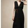 MAXI DRESS ชุดเดรสยาวแขนกุด ใส่เที่ยว ทำงาน กระโปรงอัดพลีท ผ้าชีฟอง สีดำ สวยๆ ใส่ออกงานได้ ASIA STREET FASHION
