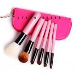 ชุดแปรงแต่งหน้า เซ็ทแปรงแต่งหน้ารุ่นพิเศษ Cerro Qreen six wool makeup brushes sets limited - Pink (6 ชิ้น)