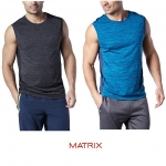 MATRIX Colour Block Muscle Shirt