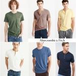 Abercrombie & Fitch Garment Dye Henley Short Sleeve T-Shirt