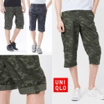 UNIQLO Roll Up 3/4 Cargo Pants ( มาเพิ่ม 21-09-58)
