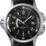 Hamilton Men's H77615333 Khaki Navy GMT Black Dial Watch