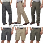 BC Clothing Convertible Stretch Cargo Pants