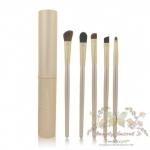 แปรงแต่งตา ขนอ่อนนุ่ม สไตล์เกาหลี Make Up For You Eye shadow brush tool suite portable makeup brush sets แปรงแต่งตา - Gold (5 ชิ้น)