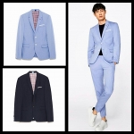 Zara Men's Blazer (Suit ) With Textured Weave