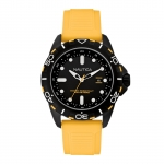 Nautica Men's N11617G Analog Display Watch with Black Case and Yellow Band