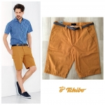 TCHIBO Men's Chino Shorts With Belt