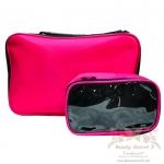 กระเป๋าเครื่องสำอาง กระเป๋าเก็บเครื่องสำอาง น่ารัก สีชมพู Beauty Secret D Professional Makeup Box 2 in 1