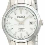 Pulsar Women's PXT655 Expansion Silver-Tone Stainless Steel LumiBrite Dial Watch