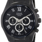 Pulsar Men's PT3401 Analog Display Japanese Quartz Black Watch