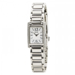 Pulsar Women's PEGC51 Crystal Accented Dress Silver-Tone Stainless Steel Watch