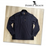 Pebble Beach Quater Zip long sleeve Polo