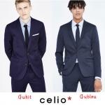 Celio Men's Slim Blazer ( Guhit & Gubleu )