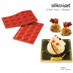 Silikomart พิมพ์ซิลิโคน SF005 HALF-SPHERE(15ช่อง / 4cm)