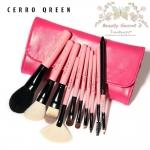 ชุดแปรงแต่งหน้า สไตล์เกาหลี /10 ชิ้น - Cerro Qreen Professional Makeup Brushes Dream Set Pink