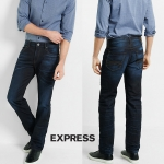 Express Jean Rocco Straight Leg Slim Fit Jean