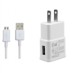 wall Charge Adapter +micro USB Cble-white